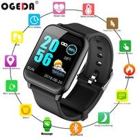 2019 OGEDA Смарт часы с Bluetooth, умные Для мужчин Для женщин Фитнес трекер SMARTWATCH информации телефона напоминание IP67 Смарт Браслет для IOS и Android