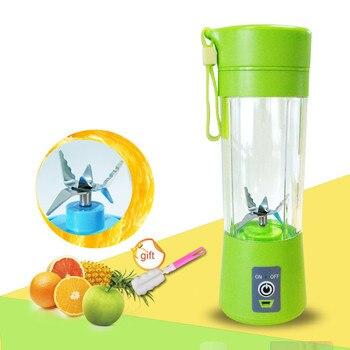 цена на 400ml Portable Juice Blender USB Juicer Cup Multi-function Fruit Mixer Six Blade Mixing Machine Smoothies Baby Food wholesale