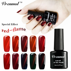 Vrenmol special effect red flame red line cat eye nail gel polish soak off 3d magnet.jpg 250x250
