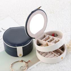 Новые женские Мини-серьги-гвоздики и кольца двухслойная шкатулка для украшений полезный органайзер для макияжа переносная шкатулка для