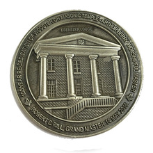 coins custom hot sales 3D Challenge Coin  High quality Custom old silver metal low price antique Masonic