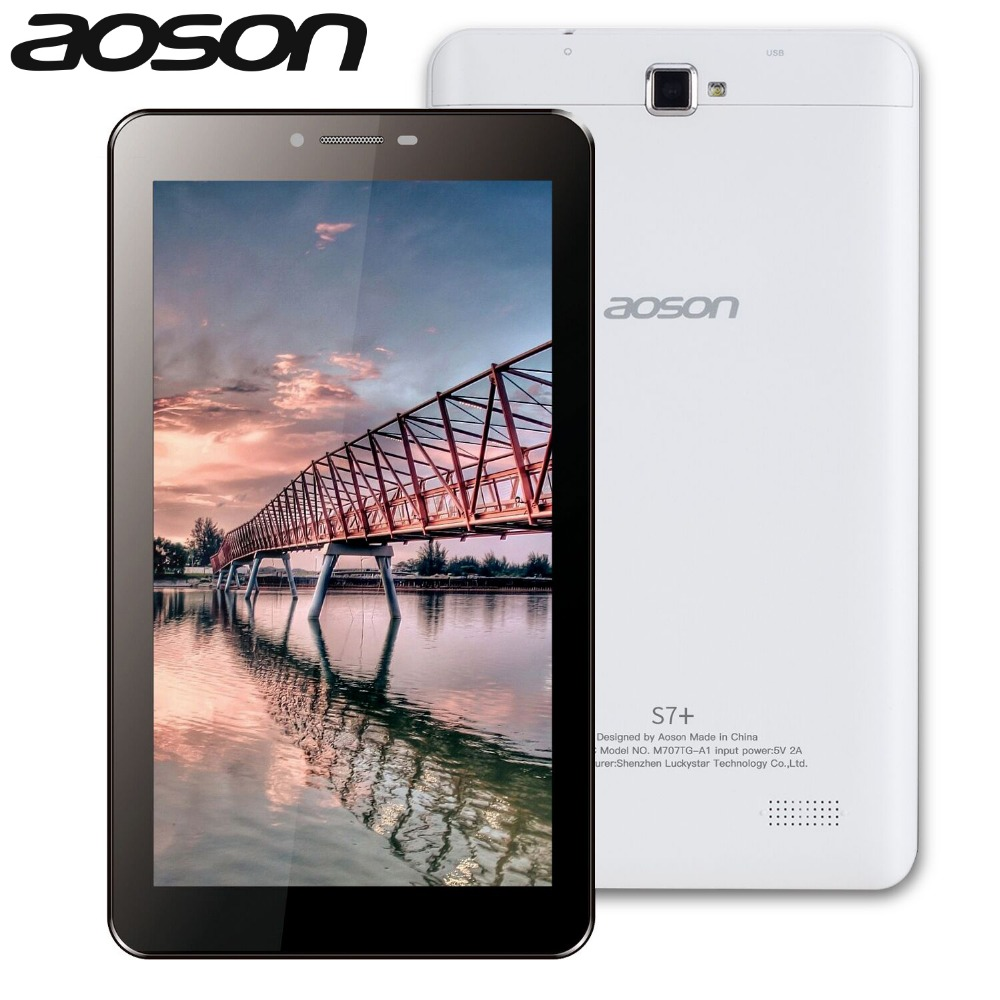 Tablets Aoson S7+ 7 inch 3G Phone Call Tablet PC Android 7.0 16GB ROM+1G RAM Quad Core Dual Camare GPS WiFi Bluetooth Tablets lnmbbs metal new function tablet android 7 0 10 1 inch 1 gb ram 16 gb rom 8 core dual cameras 2 sims 3g phone call gps
