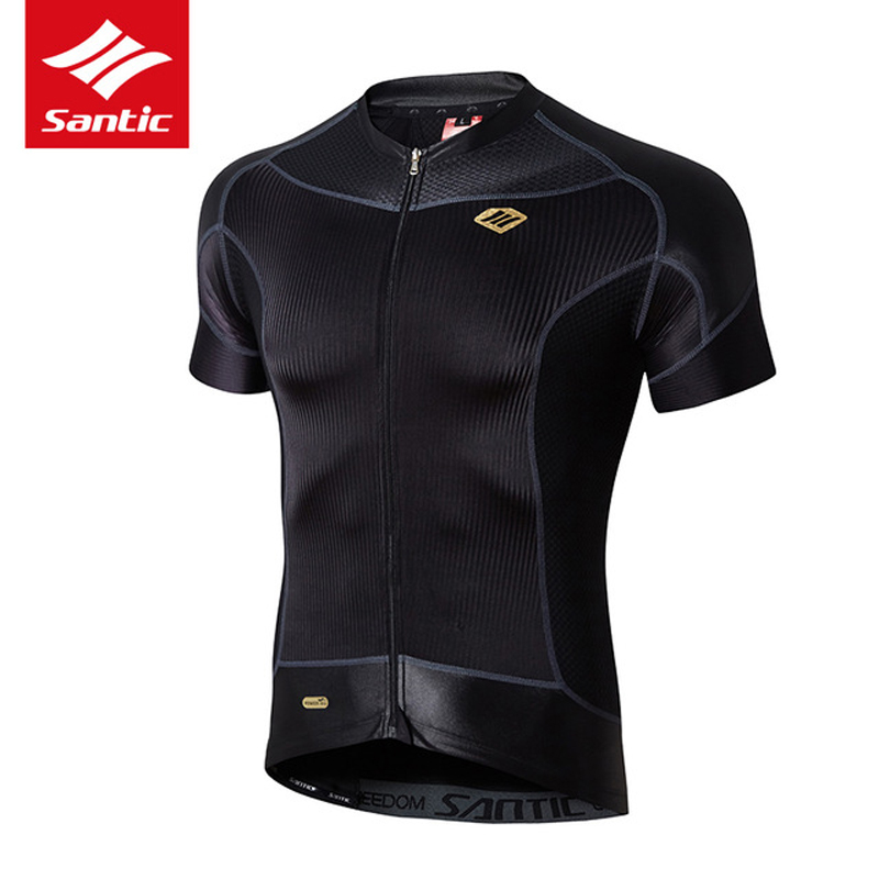 SANTIC  Women Sports Cycling Seamless Jerseys Tights Suit Long Sleeve Black Pink