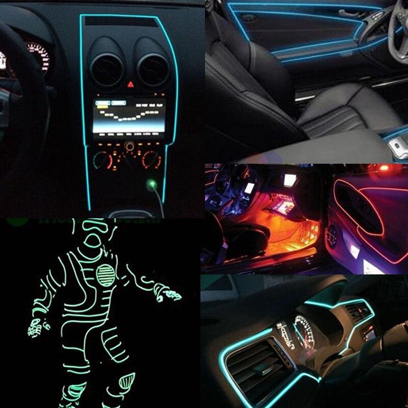 Interior Neon Car Lights. ijdmtoy ultra blue el neon flexible strip ...