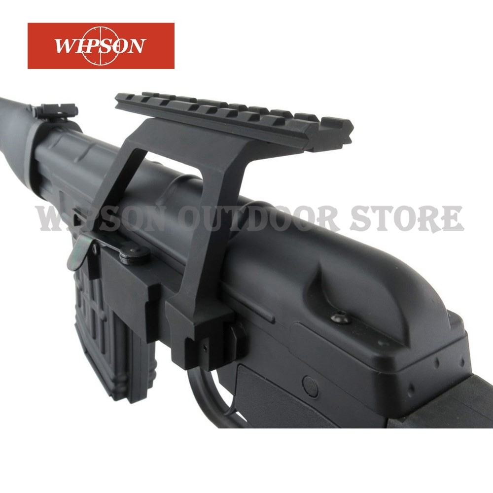 WIPSON Metal Top Rail Mount AK47/ AK74 SAIGA Rifle Airsoft Side Rail Scope Mount QD for 20mm Picatinny Rail Scope Sight