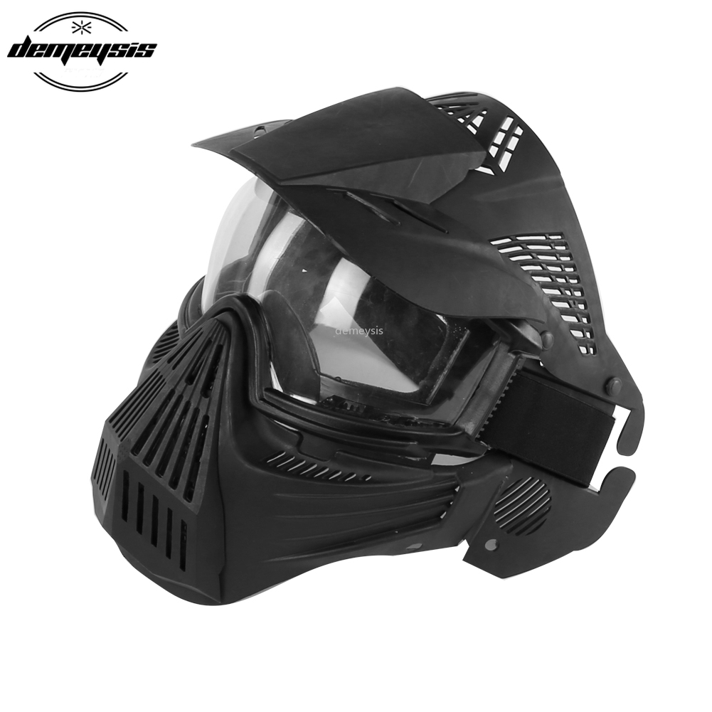Tactical Lens Full Face Mask Breathable CS Hunting Military Mask Army Airsoft Paintball Protection Masks