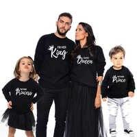 Одинаковые комплекты одежды для всей семьи футболки принцессы, королевы, принца Одежда «Мама и я» Платья для мам, мам, мальчиков и девочек