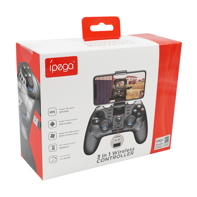 IPega PG-9156 para regulador del juego de Bluetooth inalámbrico 2,4G receptor Joystick para PUGB y Fornite Gamepad para iOS/Android /PC