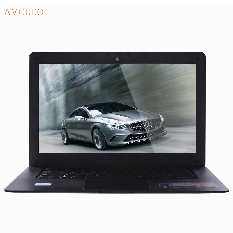 Amoudo 6C 4GB RAM+120GB SSD 14inch 1920*1080P FHD Windows 7/10 System Quad Core Fast Boot