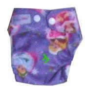 Моющиеся Новорожденные ткань пеленки 1 шт. ткань пеленки+ 1 шт. вставки - Цвет: Purple princess