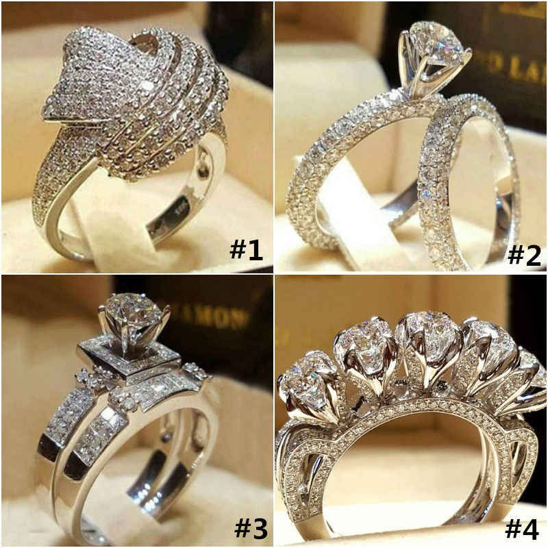 ZHOUYANG Engagement Ring For Women Luxury Style Cubic Zirconia Four Items Silver Color Wedding Gifts Fashion Jewelry KCR064