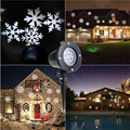 Christmas Snowflake Projector Laser Outdoor LED Light Waterproof 180 Degree Rotation Christmas New Year Party Home Garden Decor