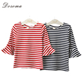 2016 New Arrival Autumn Kids T-Shirts For Girls Cotton Flare Long Sleeve Children Shirts Tops Striped Baby Girls Causal T-shirt