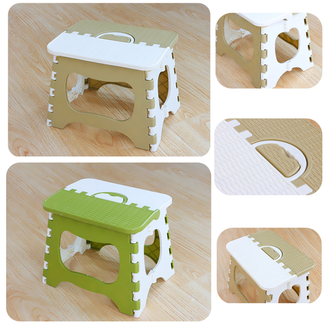 1piece Outdoor Thicken Small Bench Portable Hand-held Plastic Folding Stools for Fishing