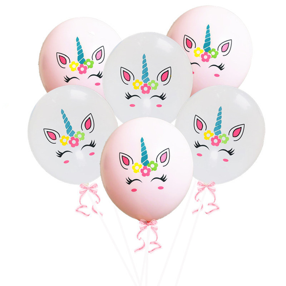10Pcs Unicorn Party Latex Balloon Unicornio Air Globos Wedding Birthday Party Decoration Children 39 s Toys in Ballons amp Accessories from Home amp Garden