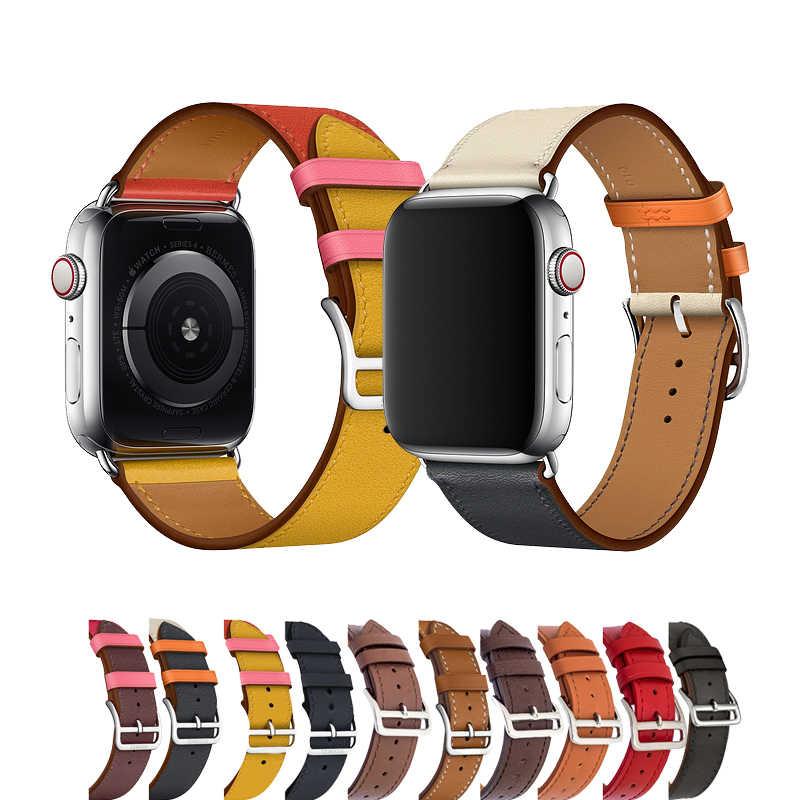 Кожаный ремешок для apple watch 4/3 42 мм 38 версия один трек часы iwatch ремень комплект из 4