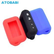 ATOBABI E96 силиконовый чехол для ключей Starline E95 E66 E96 E63 E93 E60 E61 E90 E91 двухсторонняя автомобильная система охранной сигнализации ЖК-пульт дистанционного управления