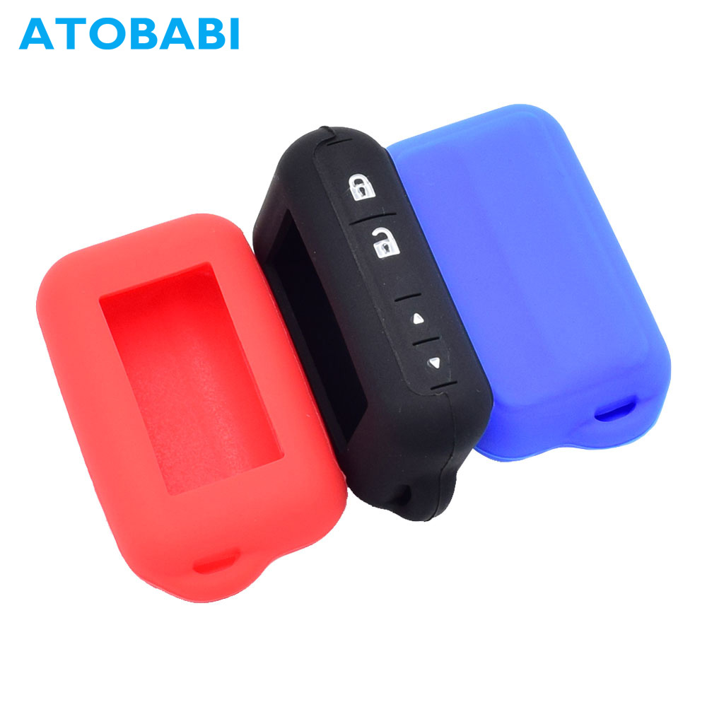 ATOBABI E96 Silicone Key Case LCD Remote Cover for Starline E95 E66 E96 E63 E93 E60 E61 E90 E91 Two Way Car Burglar Alarm System atobabi e60 e90 leather key fob cover cases for starline e60 e90 e63 e93 e95 e66 e96 lcd remote controller keychain transmitter
