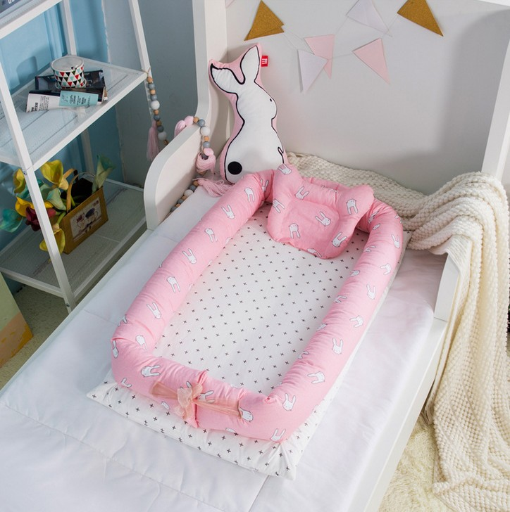 Baby Bettwäsche 3 Stücke Ein Satz Baby Tragbaren Bett Neugeborenen Biomimetik Bett Multifunktionale Beschwichtigen Krippe Bettwäsche Set Mit Matratze Und Stoßfänger Kissen Eine GroßE Auswahl An Waren Bettwäsche-sets
