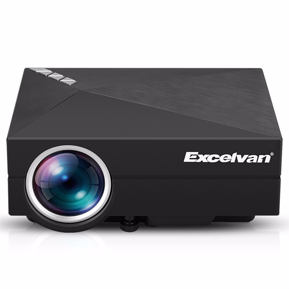Hot sale! Excelvan GM60A Portable Projector 800*480 80Ansi Lumens Support DLAN MIRACAST With USB/SD/VGA/HDMI/AV Multi-Media Proy