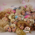 5pcs/lot Original Doll Head Mix Different Style Blond Brown Hair DIY Accessories For Barbie Doll Collection Birthday Gift