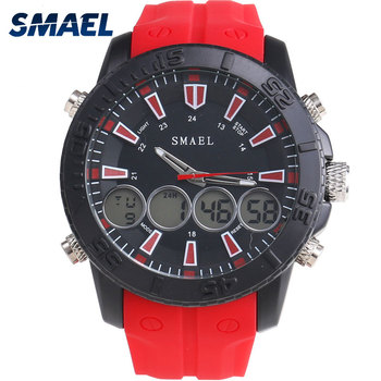 SMAEL 1033, reloj deportivo de aleación para hombre, reloj de cuarzo resistente al agua para deportes al aire libre, fantásticos relojes para hombre con pantalla Dual al aire libre