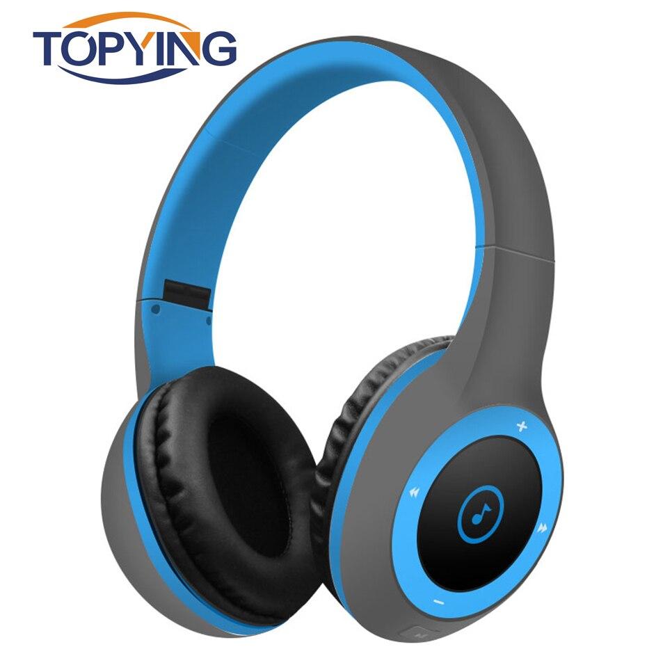 TOPYING Складная Беспроводная bluetooth-гарнитура стерео Bluetooth 4,0 для спорта с микро TF картой шумоподавление Bluetooth гарнитура