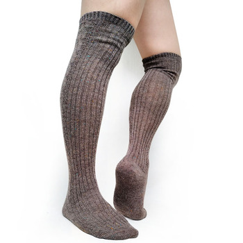 Men Business Long Stocking Sexy Cotton Striped Thick Warm Socks For Male High Quality Brand Mens Formal Dress Hose Coffee
