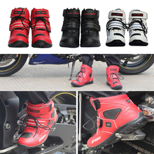 hot deal buy motorcycle boots moto riding boots leather nylon motorbike biker touring ankle shoes motorcycle shoes