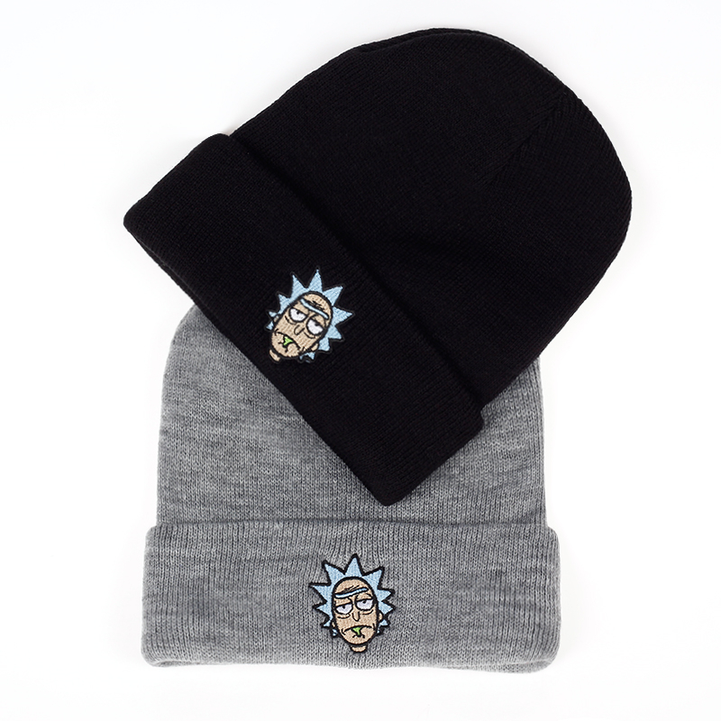ba817db377c Rick and Morty Winter Hats Rick Beanies Elastic Brand Embroidery Ski Gorros  Cap Warm Unisex Knitted Hat Skullies US Animation-in Skullies   Beanies  from ...