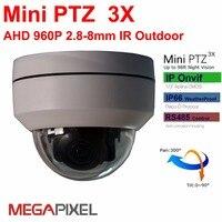 Megapixel AHD cctv video surveillance security outdoor mini ptz Camera Gemotoriseerde auto-focus 2.8-8mm 960 P Pan Tilt Zoom