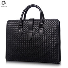 Men messenger bags 100% Genuine leather bag luxury designer handbag high quality famous brand briefcase new arrival!
