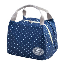 2017 New Portable Lunch Bag Thermal Insulated Snack Lunch Box Carry Tote Storage Bag Travel Picnic Food Pouch
