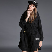 New Winter Coat Hooded Long Sections Windbreaker Jacket Baseball Uniform Thick Loose Female Tide Fashion Bayan Mont TT125