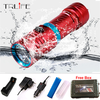 2017 5000LM CREE XM L2 LED Waterproof Torch Flashlight Light Scuba 100m Underwater Diving Flash Lamp