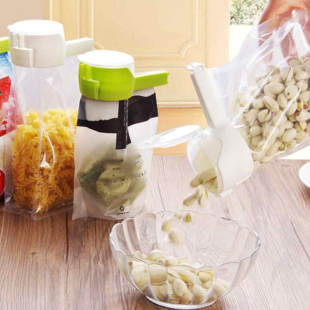 Househould Food Snack Storage Seal Sealing Pour Bag Clips Sealer Clamp Food Bag Clip Kitchen Tool Home Food Close Clip