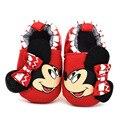 Bebé, Niña, niño Lindo de la Historieta de Minnie mouse Zapatos Recién Nacido Unisex Casual Prewalker Calzado Inferior Suave antideslizante Zapatos de Bebe GYH