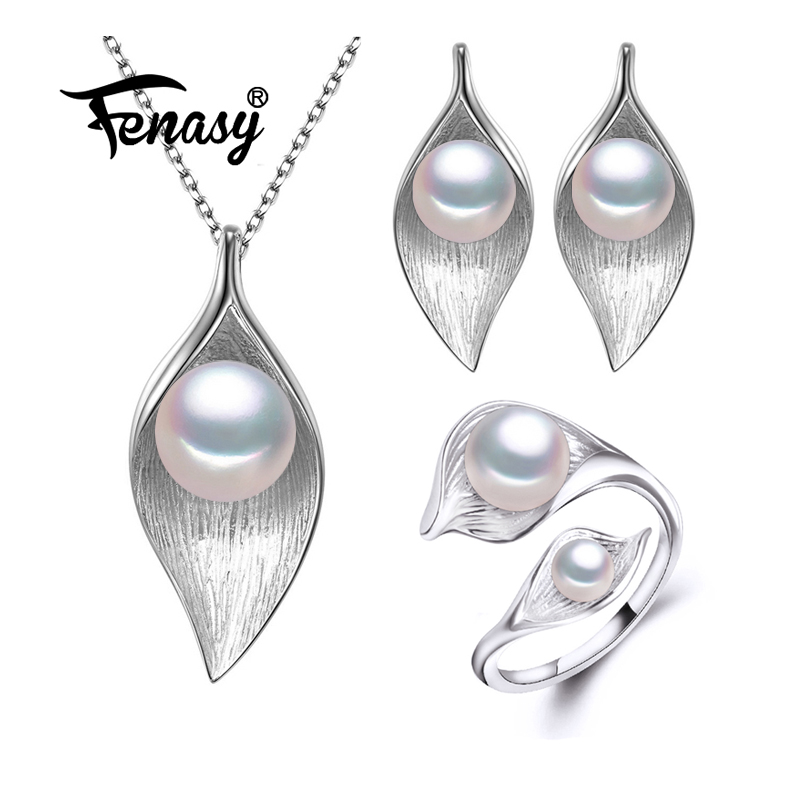 FENASY Nice Natural Pearl Jewelry Sets ,925 Sterling Silver