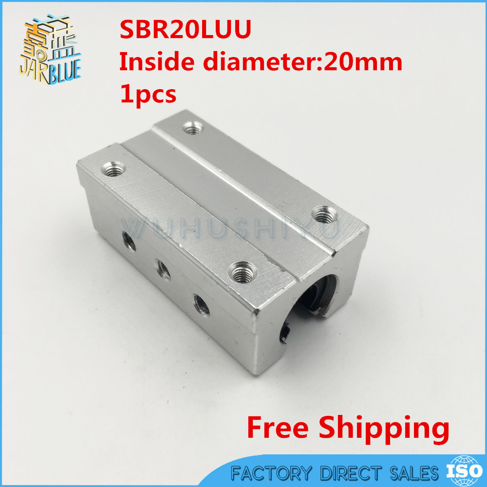 Free shipping SBR20LUU SBR20L 20mm linear ball bearing slide unit 20mm linear bearing block цены онлайн