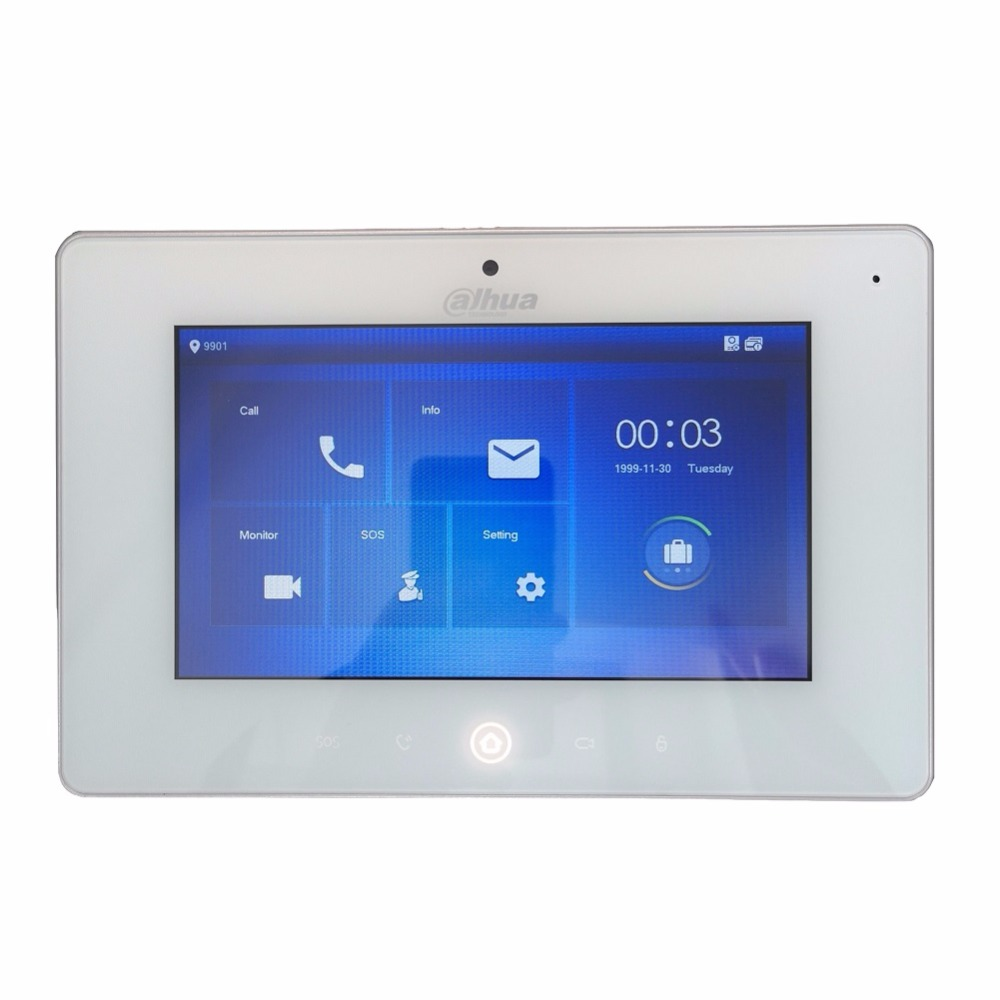 Ahua Multi-Taal VTH5221DW-CW video intercom touch screen Kleur Indoor Monitor, 1MP camera, WIFI verbinding