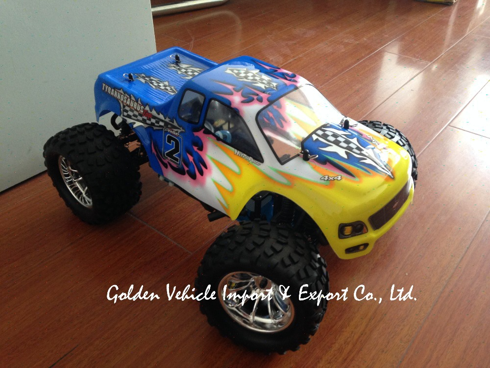 rc car nitro HSP 94188 rc 1/10 Scale Nitro Off Road Monster Truck  FS GT2 radio set car radio control carro controle remoto 02023 clutch bell double gears 19t 24t for rc hsp 1 10th 4wd on road off road car truck silver