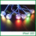 Soluções ipixel levou Ws2811 rgb lâmpada 5 V digital led rgb pixel luz 16mm
