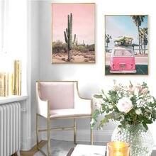 Постер розового пейзажа постеры и принты с изображением пустынного