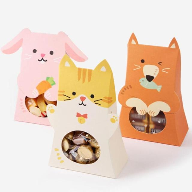 Cartoon animals cookies bag wedding candy box decoration kawaii cartoon animals cookies bag wedding candy box decoration kawaii easter biscuits children gift bag easter decorations negle Choice Image