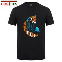 cb15700c28433 Tribal Red Panda long tail T shirt men tattoo landscape bear Tee shirt  mountain moon design