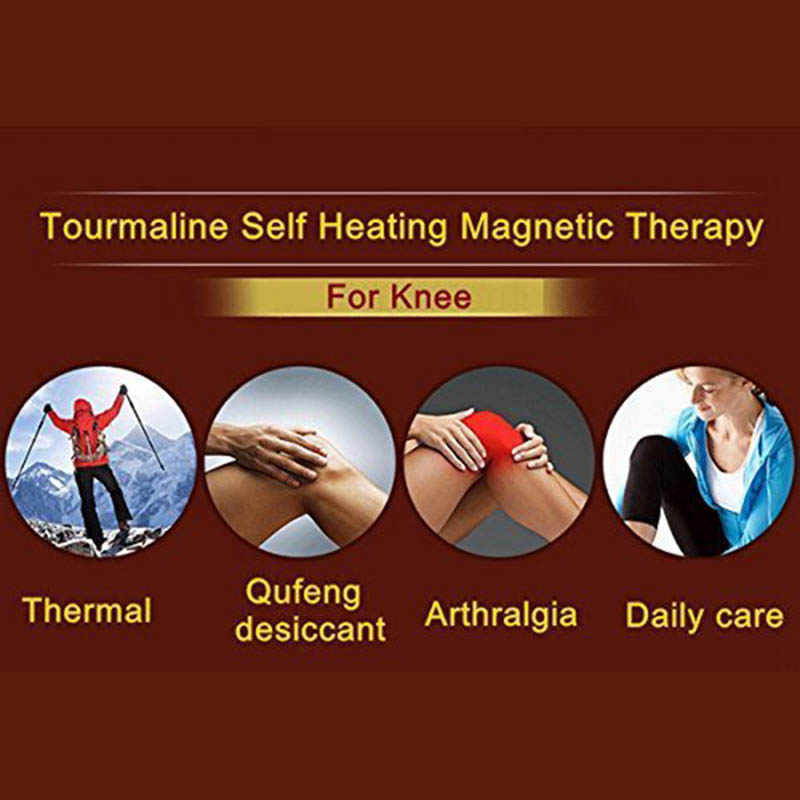 1 Pasang Adjustable Diri Penghangat Ruangan Pengunjung Terapi Magnet Dukungan Penyangga Lutut Pelindung Hangat Thermal Pad Bantalan Lutut Massager