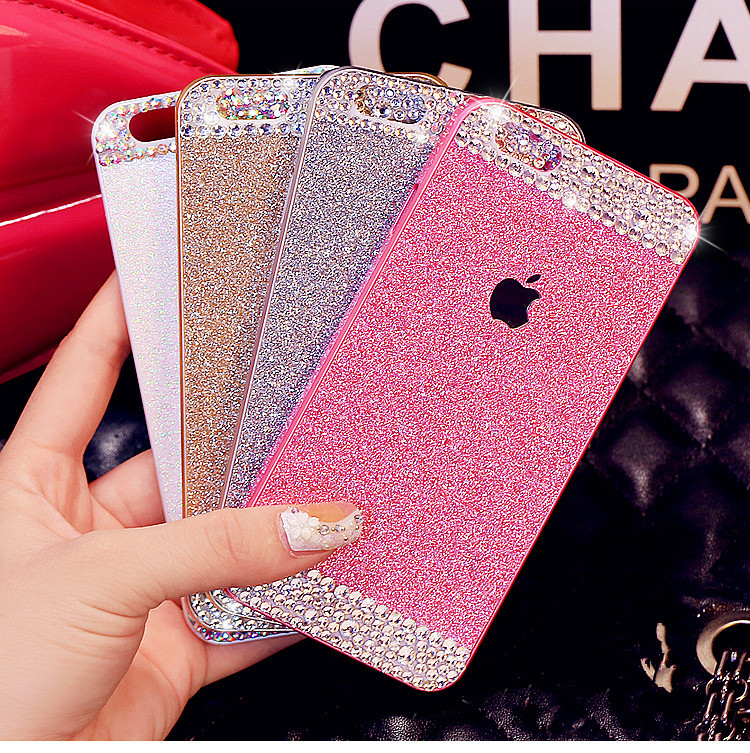 Giltter PC Hard Plastic Diamond Bling Crystal Case Iphone 4 4s 5 5s 6 plus Back Cover capa para fundas - iCover Wireless Co.,Ltd store