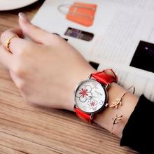 Listagem do novo Relógio Marca De Luxo Mulheres Relógios de Pulso Moda Casual Senhoras Relógio de Senhora De Quartzo relógio Relogio feminino Flor