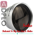 Mother's Father's Day Gifts High definition 30mm 2.0X Tele Lens Suit For C anon /nikon /sony /pentax Camera (Silver)