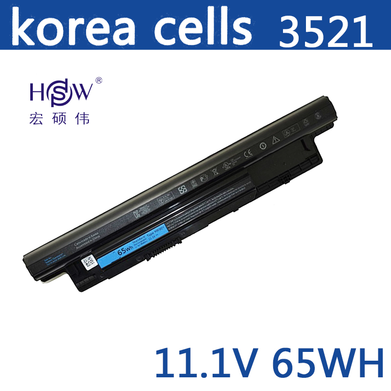 HSW battery 65WH For DELL For INSPIRON 17R 5721,17 3721,15R 5521,15 3521,14R 5421,14 3421 VOSTRO 2521 2421 bateria